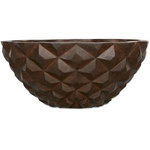 Capi Lux Heraldry bowl roest 34x34x15cm bloempot