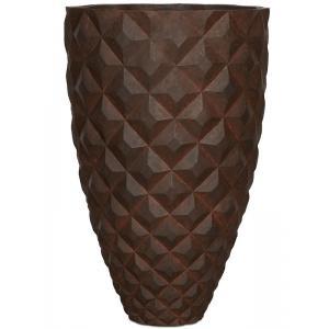 Capi Lux Heraldry hoog roest 59x59x87cm bloempot