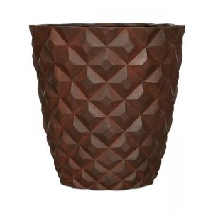 Capi Lux Heraldry roest 51x51x52cm bloempot