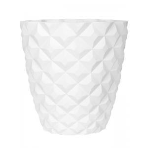 Capi Lux Heraldry wit 38x38x40cm bloempot