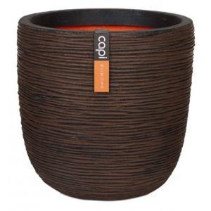 Capi Nature Rib NL bol 35x34cm bloempot bruin