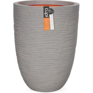 Capi Nature Rib NL vase laag 35x47cm bloempot grijs