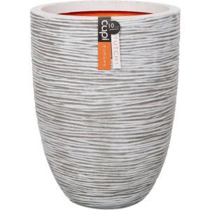 Dagaanbieding - Capi Nature Rib NL vase laag 35x47cm bloempot ivoor dagelijkse aanbiedingen