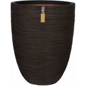 Dagaanbieding - Capi Nature Rib NL vase laag 44x56cm bloempot bruin dagelijkse aanbiedingen