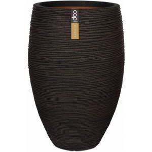 Capi Nature Rib NL vase luxe 39x60cm bloempot bruin