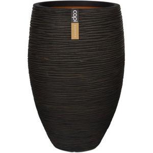 Capi Nature Rib NL vase luxe 45x72cm bloempot bruin