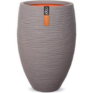 Capi Nature Rib NL vase luxe 45x72cm bloempot grijs