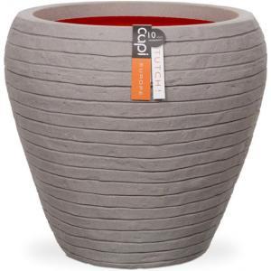 Capi Nature Row NL vase rond 42x42x38cm bloempot grijs