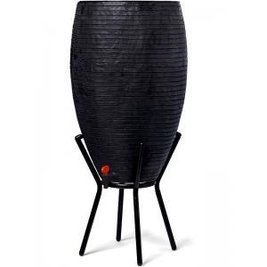 Capi Nature Row regenton zwart 130L met plantenbak