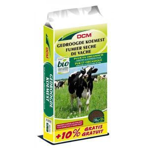 DCM gedroogde koemestkorrels 18 kg + 10% extra