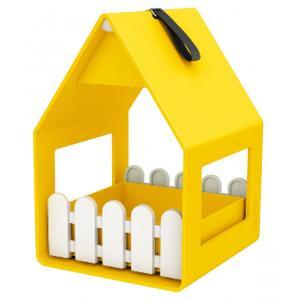 Landhaus vogel voederhuisje geel