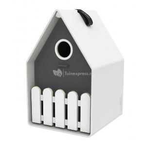 Dagaanbieding - Landhaus vogelhuisje wit / antraciet dagelijkse koopjes