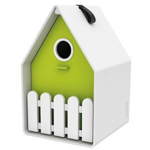 Dagaanbieding - Landhaus vogelhuisje wit / lime dagelijkse aanbiedingen