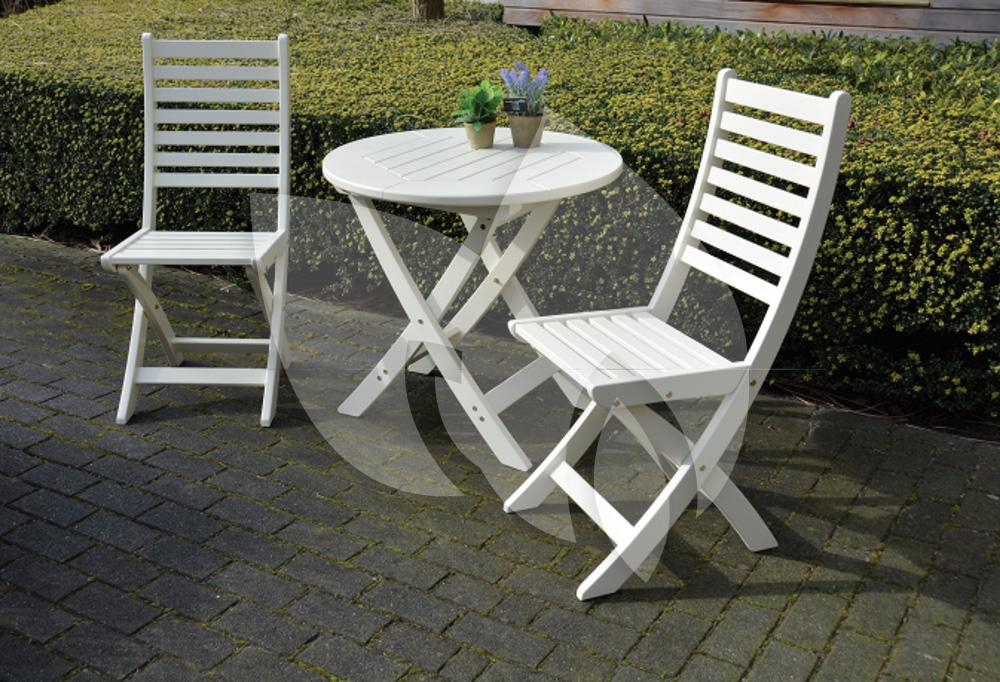 Esschert design opklapbare tuinstoel wit for Witte tuinstoel