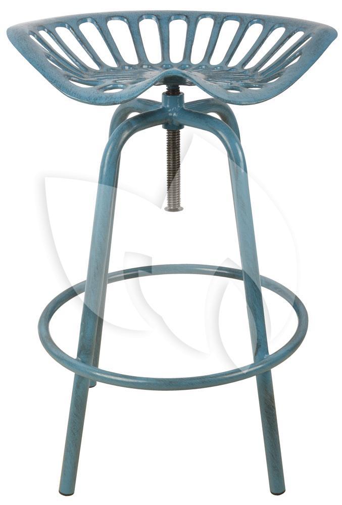 Wonderbaar Esschert Design Industriele kruk blauw   Tuinexpress.nl NP-98