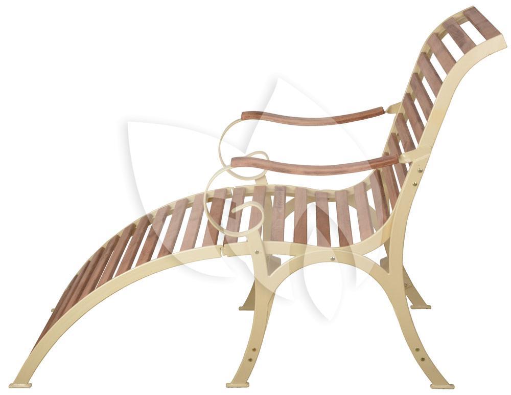 Cool ligstoel hout opklapbaar sofia crme with ligstoel for Ligstoel buiten