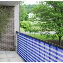 Balkondoek blauw en wit 90 cm van de rol