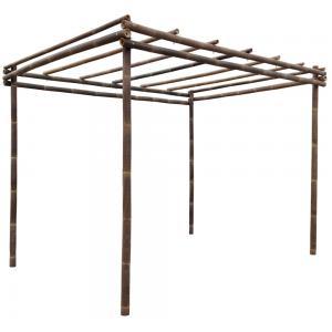 Dagaanbieding - Bamboe pergola zwart 400 x 300 cm dagelijkse aanbiedingen