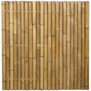Bamboe schutting naturel 180 x 180 cm x 60-80 mm