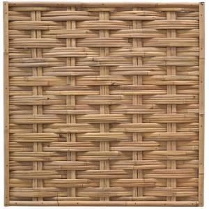 Bamboe schutting naturel gevlochten 180 x 180 cm – horizontaal