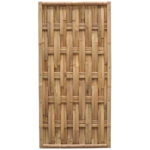 Bamboe schutting naturel gevlochten 90 x 180 cm – verticaal