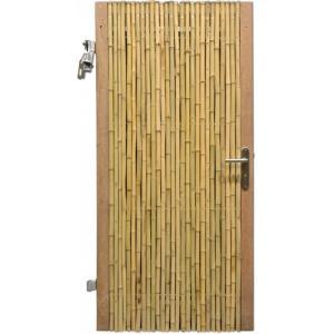 Bamboe schutting poortdeur naturel 90 x 200 cm x 18-28 mm
