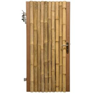 Bamboe schutting poortdeur naturel 100 x 200 cm x 60-80 mm