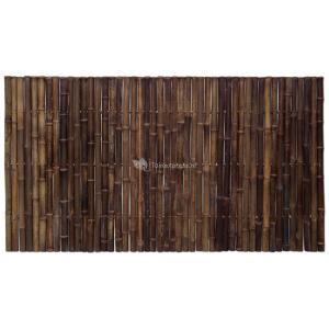 Dagaanbieding - Bamboe schutting zwart 180 x 100 cm x 35-45 mm dagelijkse aanbiedingen