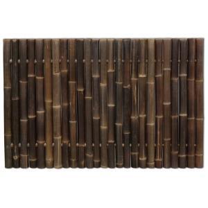 Bamboe schutting zwart 180 x 120 cm x 60-80 mm