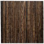 Bamboe schutting zwart 180 x 180 cm x 35-45 mm