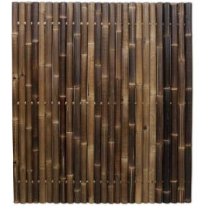 Korting Bamboe schutting zwart 180 x 200 cm x 60 80 mm