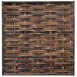 Bamboe schutting zwart gevlochten 180 x 180 cm – horizontaal