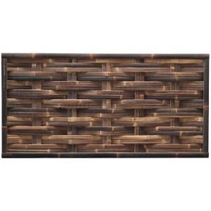 Bamboe schutting zwart gevlochten 180 x 90 cm – horizontaal