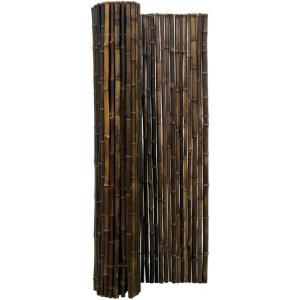 Bamboemat zwart 180 x 200 cm x 18-22 mm