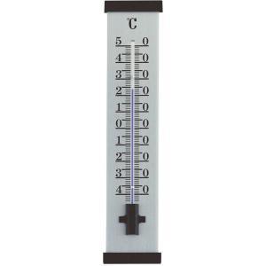 Buitenthermometer aluminium zwart 25 cm