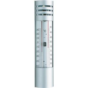 Buitenthermometer aluminium min/max 22 cm