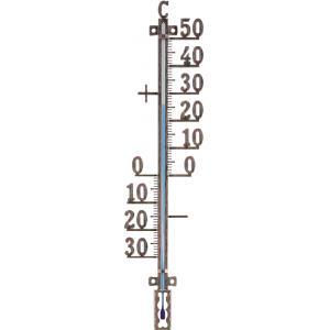 Buitenthermometer metaal koperkleurig 41 cm