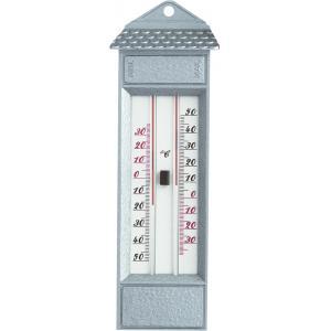 Buitenthermometer metaal min/max zilver 23.2 cm