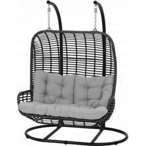 2-persoons hangstoel zwart