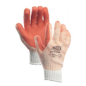 Werkhandschoen tricot latex oranje one size