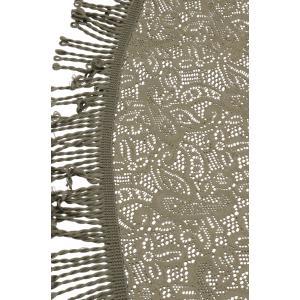 Korting Tafelkleed rond 160cm grijs met motief