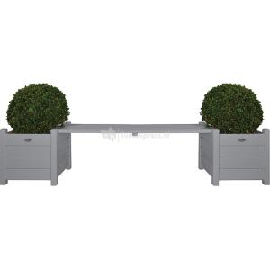 Esschert Design Tuinbank met Plantenbakken Grijs