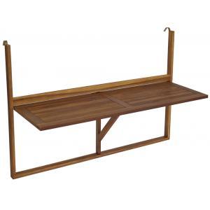 Korting Balkontafel inklapbaar 120 x 44 cm hout