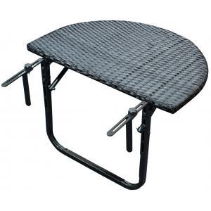 Balkontafel wicker inklapbaar 60x40 cm