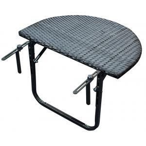 Korting Balkontafel wicker inklapbaar 120x50 cm