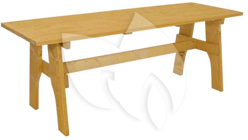 Grenenhouten Side Table.Freital Grenenhouten Tuintafel 200cm