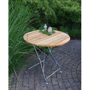 Tuintafel hout opklapbaar Bad Tolz verzinkt 77cm