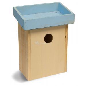 Vogelhuisje voor kleine vogels blauw