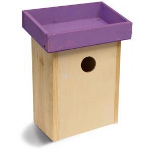 Vogelhuisje voor kleine vogels paars