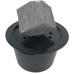 Korting Kubus waterornament natuursteen LED 31 cm doorsnede